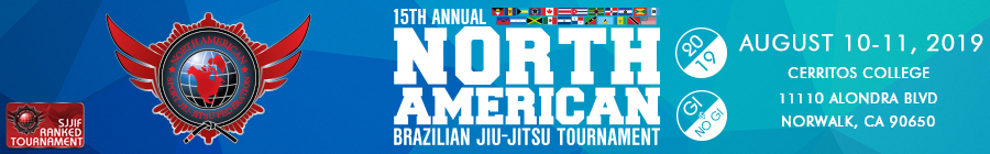 15th annual north american brazilian jiu-jitsu tournament no gi